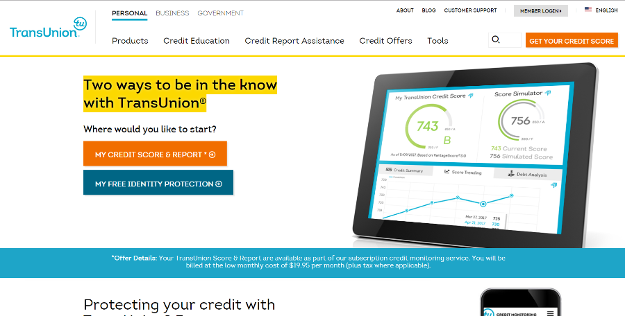 Transunion website